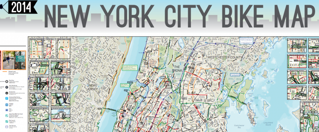 NYC bike map