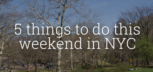 5 Things to do this weekend in NYC