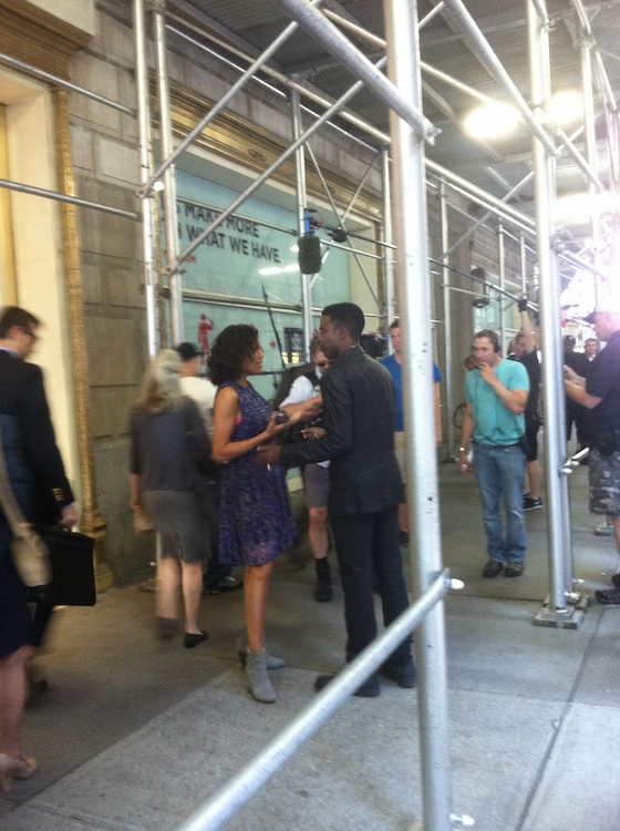 "I took this photo in the summer of 2013 when we saw Chris Rock and Rosario Dawson filming ""Top Five"""