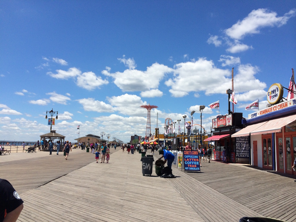 Coney Island Boardwalk. I took this photo in 2013.