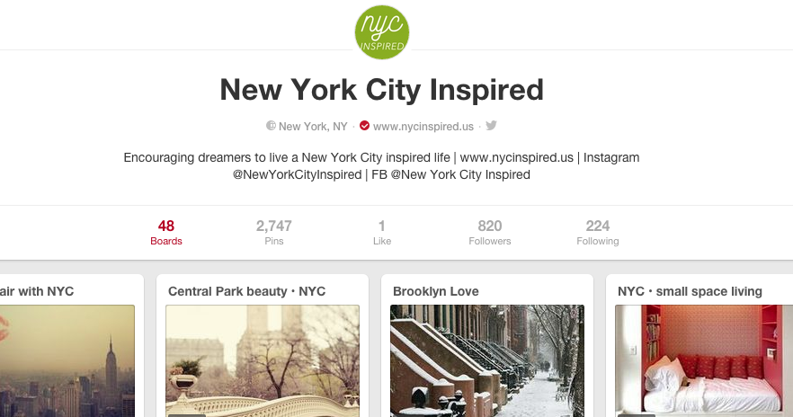 nyc inspired pinterest
