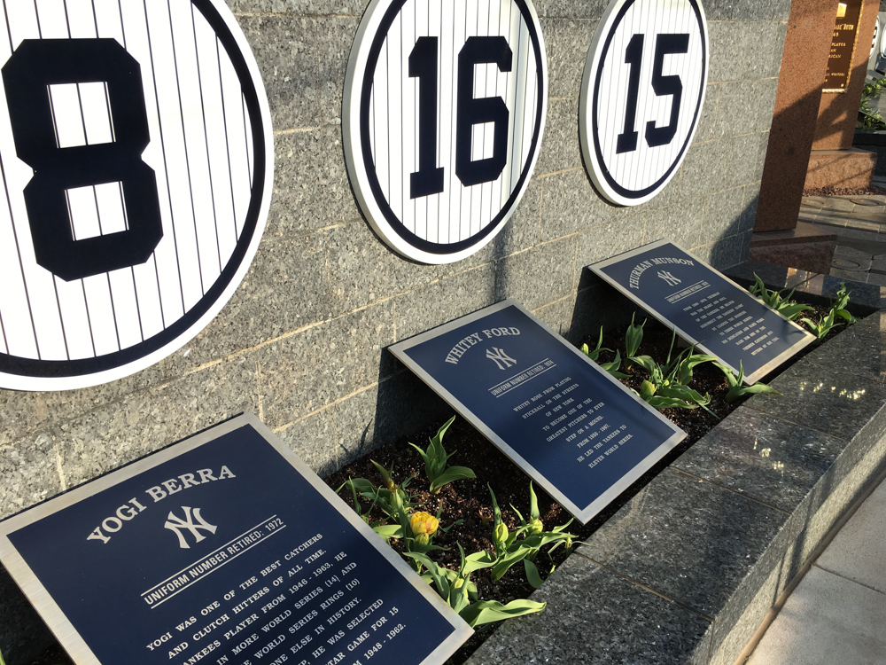 Monument Park, in Yankee Stadium