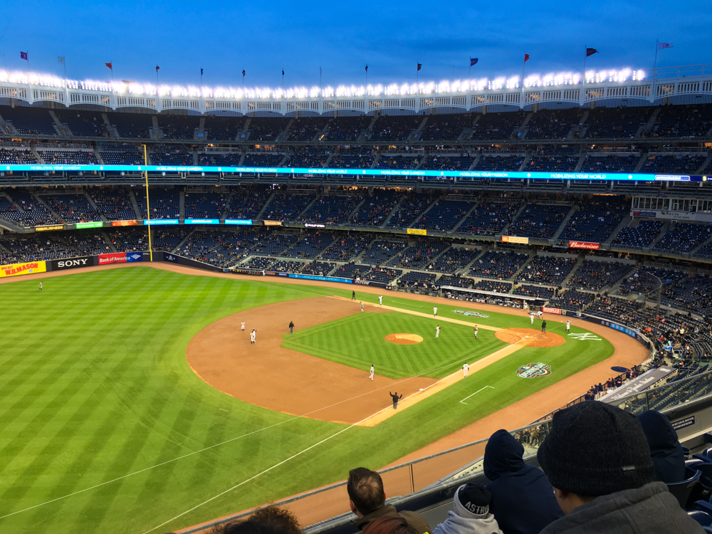 Yankee Stadium, April 2016.