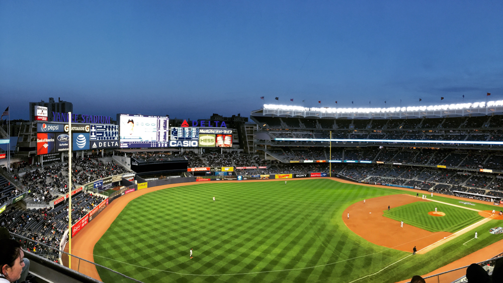 Panoramic view from section 329 at Yankee Stadium.