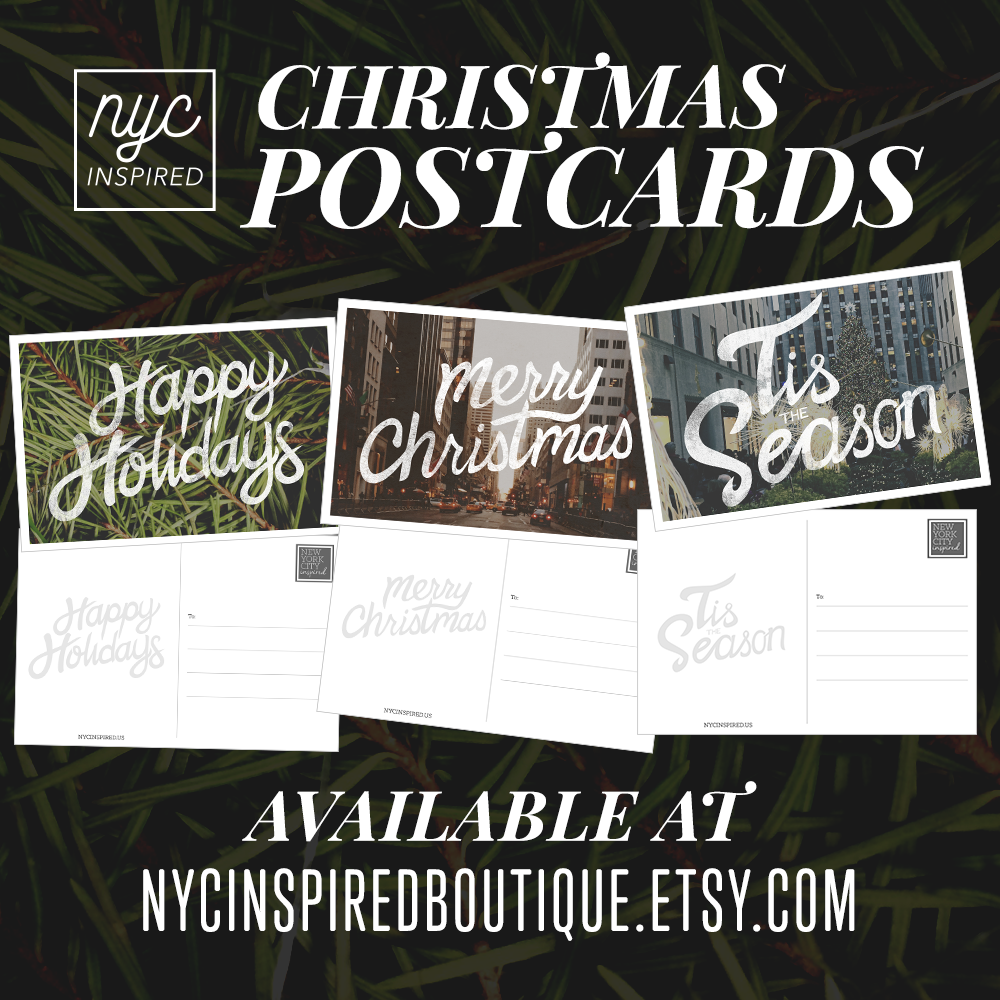 NYC Inspired Christmas cards