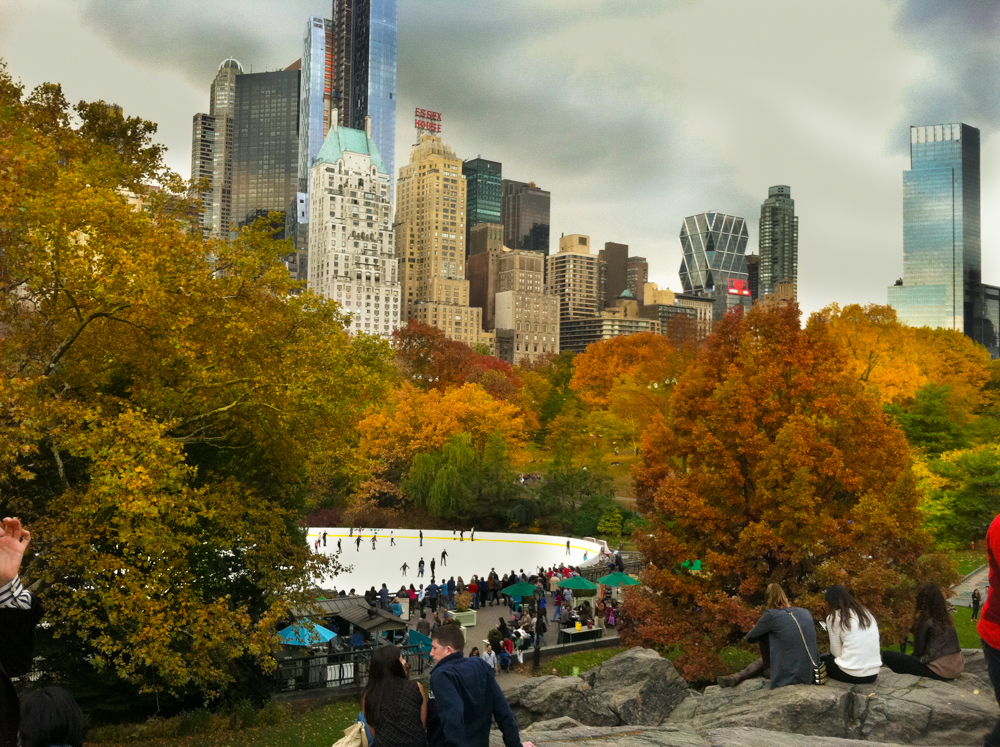 Autumn at Wollman rink, Central Park