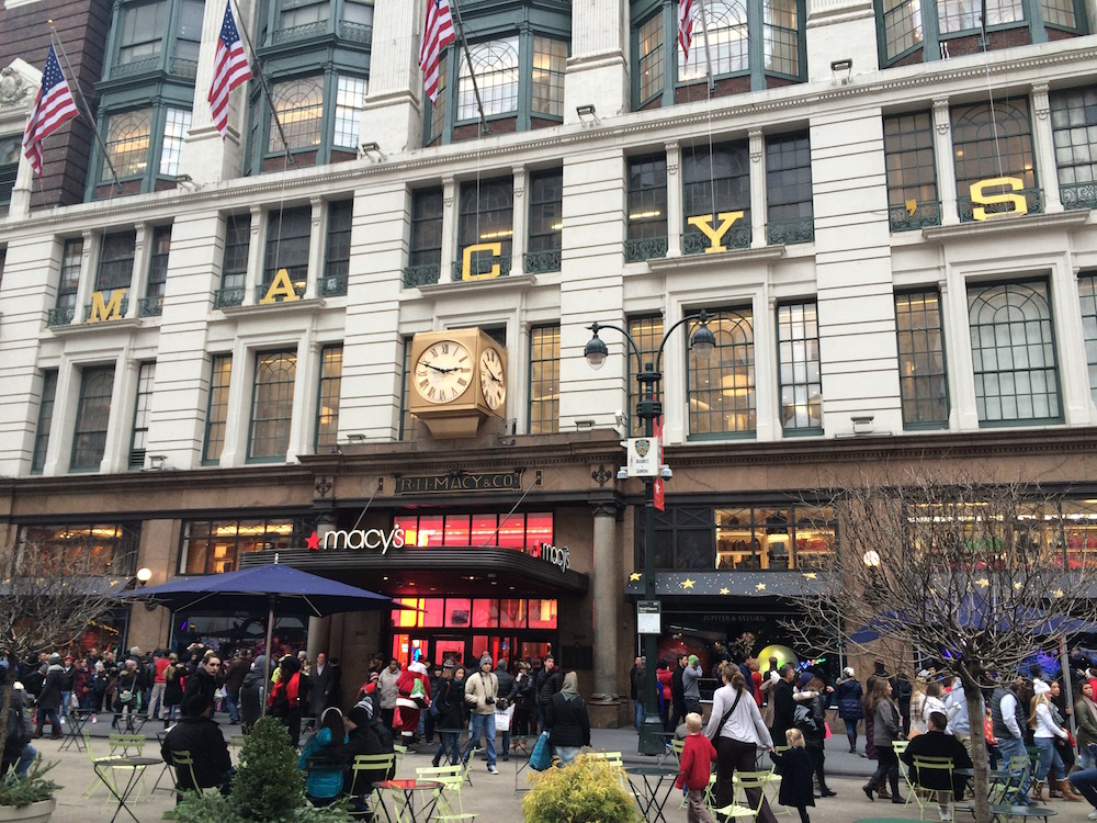 Macy's Department Store in NYC at Christmas