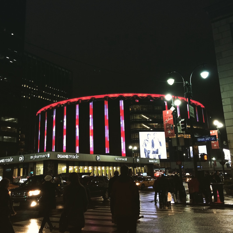 Madison Square Garden at Christmas, NYC