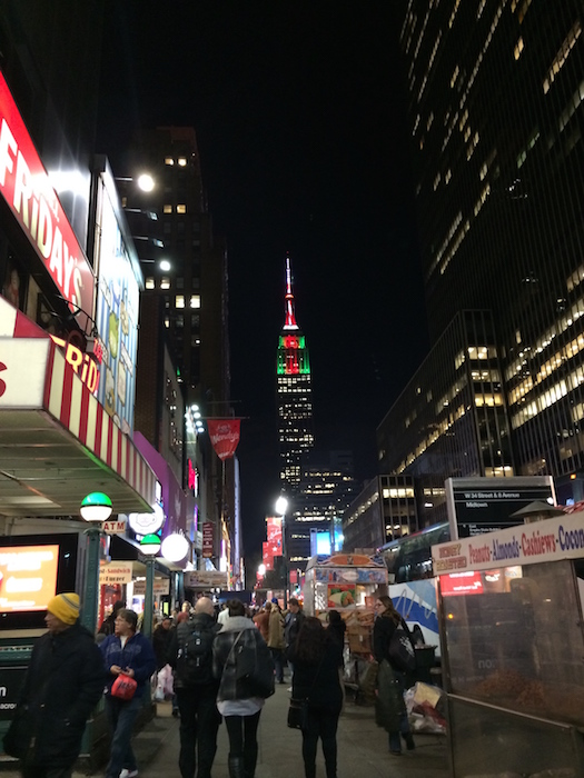 The Empire State Building at Christmas